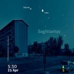 Due giorni nel Sagittario con Luna e Saturno
