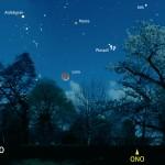 Luna, Marte e Pleiadi con Aldebaran e un bel passaggio della ISS!