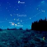 Una falce di Luna e Aldebaran, tra le corna del Toro