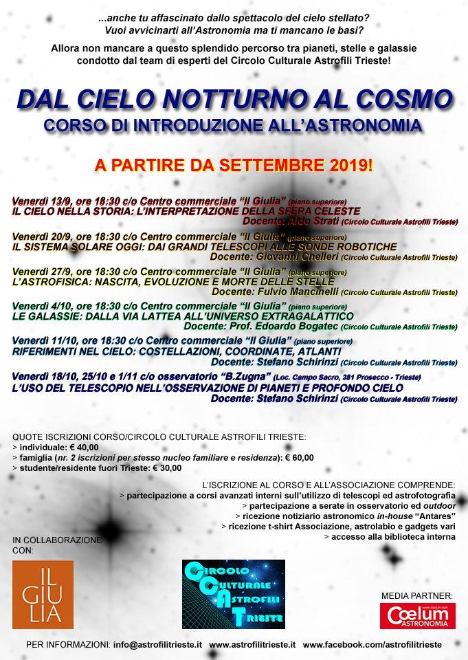 CCAT_Dal Cielo notturno al Cosmo_Corso di introduzione Astronomia