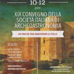 10/12 ottobre - XIX Convegno della Società Italiana di Archeoastronomia (Bari)