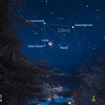 Luna e Marte per iniziare la settimana di Natale