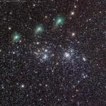 Gallery La cometa C/2017 T2 PanSTARRS incontra il Doppio Ammasso del Perseo