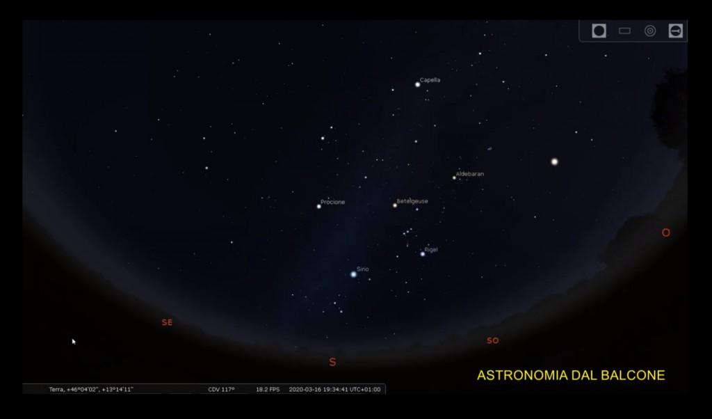 astronomia dal balcone