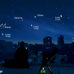 Tre mattine con Luna, Giove, Saturno e Marte
