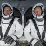 La Crew Dragon sulla rampa di lancio. Tutto pronto per il primo lancio abitato da suolo americano dal 2011.