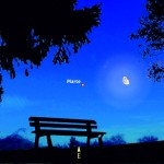 Scoccare della mezzanotte con Luna e Marte