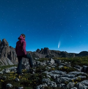 La cometa Neowise e Giorgia Hofer