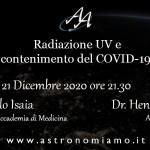 Astronomiamo webinar: Radiazione UV e contenimento del COVID-19
