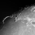 Le dimensioni delle strutture lunari: Sinus Iridium, Appennini e cratere Clavius