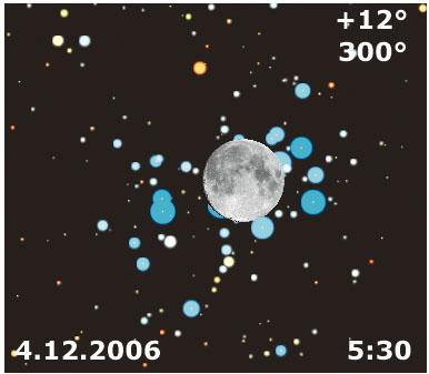 Con le Pleiadi tra le onde della Luna
