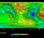 Presentato il primo modello globale di gravità calcolato da GOCE